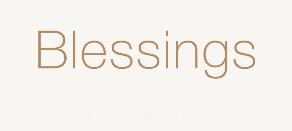 BLESSINGS 860,-